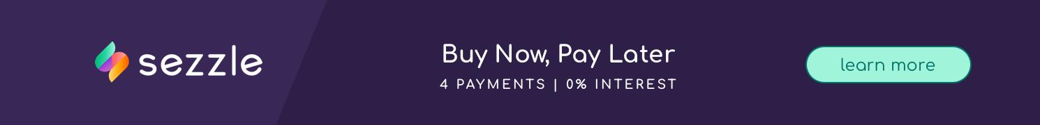 sezzle pay description on purple background